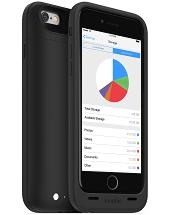 Аккумуляторный чехол с дополнительной памятью Mophie Space Pack для iPhone 6/6S на 3300mAh [32 Гб, Черный]