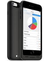 Акумуляторний чохол з додатковою пам'яттю Mophie Space Pack для iPhone 6 plus / 6S plus на 2600mAh [Чорний, 32 Гб]
