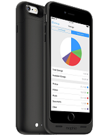 Акумуляторний чохол з додатковою пам'яттю Mophie Space Pack для iPhone 6 plus / 6S plus на 2600mAh [Чорний, 32 Гб], фото 1
