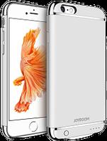 Дизайнерский аккумуляторный чехол Joyroom для iPhone 6/6S на 4500mAh [Серебряный], фото 1