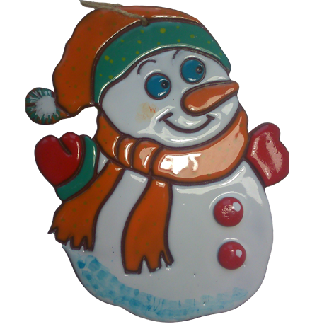 "Пласт ""Снеговик в шапке"""