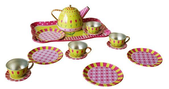 Посуда детская металлическая  для девочки