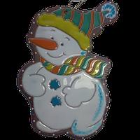 """Фигурка """"Снеговик в полосатой шапке"""""""