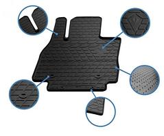 Передние автомобильные резиновые коврики Chrysler 200 II (2014-2016) (1061012)