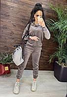 Нежный, велюровый спортивный костюм, фото 1