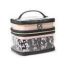 Набір Косметичок Victoria's Secret Train Case, 4 в 1 Рожева з чорним, фото 2
