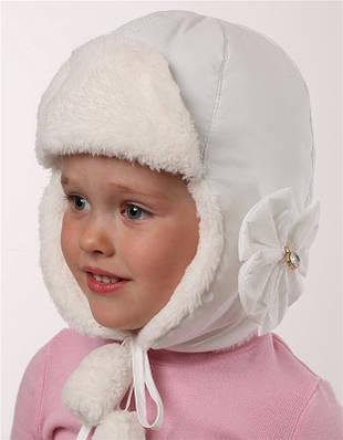 """Зимняя шапка-ушанка для девочки """"Летиция"""""""