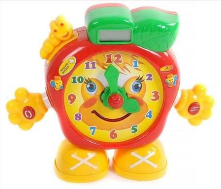Детские развивающие и  обучающие часы с LCD дисплеем и светом  (русский язык), фото 2