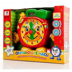 Детские развивающие и  обучающие часы с LCD дисплеем и светом  (русский язык)