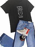Женская бредовая футболка Karl Lagerfeld, черная, принт серебро, оригинал, фото 2