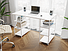 Комп'ютерний стіл лофтовый з полицями по боках з ДСП Код: VZ-21, фото 3