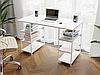Комп'ютерний стіл лофтовый з полицями по боках з ДСП Код: VZ-21, фото 6