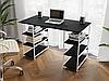 Комп'ютерний стіл лофтовый з полицями по боках з ДСП Код: VZ-21, фото 7