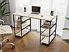 Комп'ютерний стіл лофтовый з полицями по боках з ДСП Код: VZ-21, фото 10