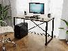 Компьютерный стол лофтовый на двух металлических ножками из ДСП Код: VZ-23, фото 5