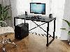 Компьютерный стол лофтовый на двух металлических ножками из ДСП Код: VZ-23, фото 6