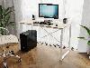 Компьютерный стол лофтовый на двух металлических ножками из ДСП Код: VZ-23, фото 9