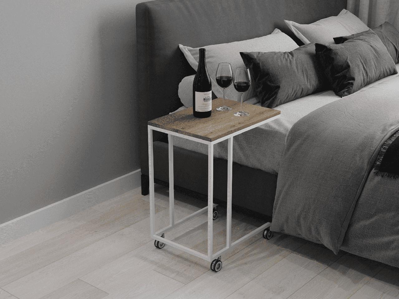 Приставний журнальний столик до дивана і ліжка з ДСП. КОД: VZ-24