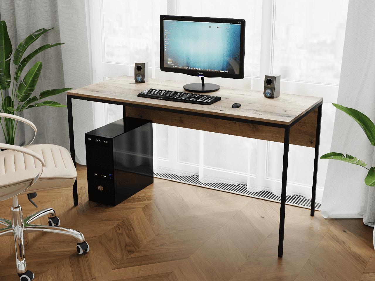Комп'ютерний стіл лофтовый на металевих ніжках з ДСП Код: VZ-25
