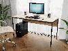 Комп'ютерний стіл лофтовый на металевих ніжках з ДСП Код: VZ-25, фото 4