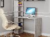 Компьютерный стол со стеллажом на 6 полок сбоку из ДСП Код: VZ-5, фото 3