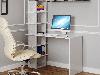 Компьютерный стол со стеллажом на 6 полок сбоку из ДСП Код: VZ-5, фото 6