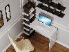 Компьютерный стол со стеллажом на 6 полок сбоку из ДСП Код: VZ-5, фото 8