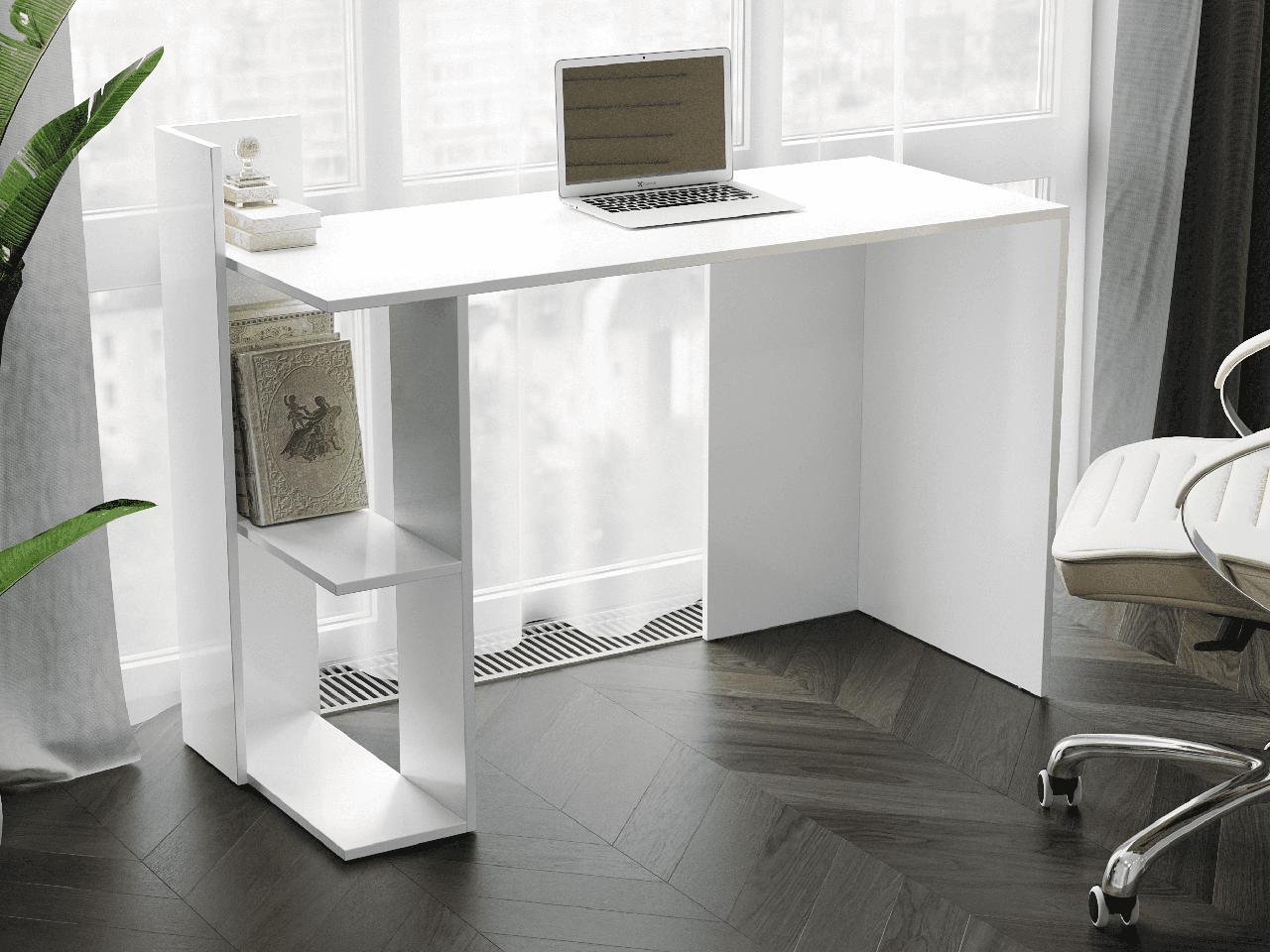 Компьютерный стол с 2 полками сбоку из ДСП Код: VZ-15