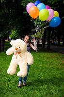 М'який плюшевий ведмедик Бежевий 130 див., фото 1