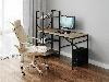 Комп'ютерний стіл лофтовый зі стелажем збоку з ДСП Код: VZ-26, фото 6