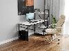 Комп'ютерний стіл лофтовый зі стелажем збоку з ДСП Код: VZ-26, фото 8