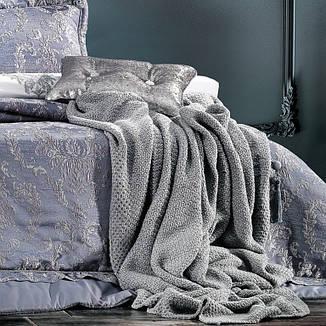 Постільний комплект з покрываломZebra Casa Meghan indigo євро - 4 наволочки, 260*270, фото 2