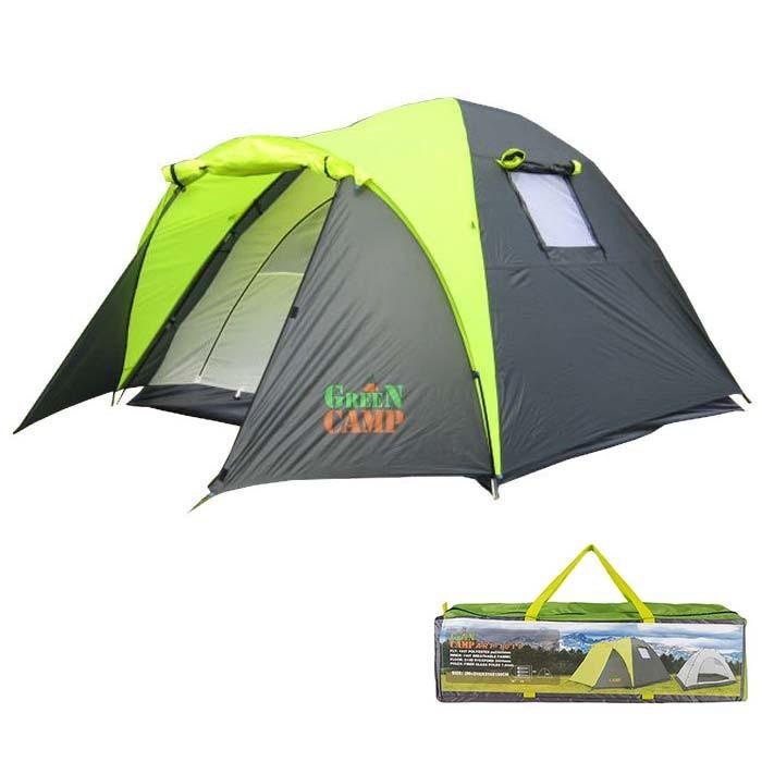 Палатка кемпинговая трехместная GreenCamp 1011