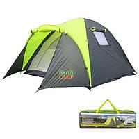 Палатка кемпинговая трехместная GreenCamp 1011, фото 1