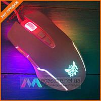 Игровая мышь Onikuma CW905 с подсветкой розовая мышь мышка компьютерная для игр компьютера пк геймерская