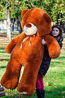 Великий плюшевий ведмідь Коричневий 200 див., фото 1
