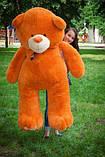 Великий плюшевий ведмідь Коричневий 200 див., фото 3