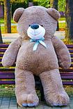 Великий плюшевий ведмідь Коричневий 200 див., фото 4