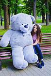 Великий плюшевий ведмідь Коричневий 200 див., фото 10