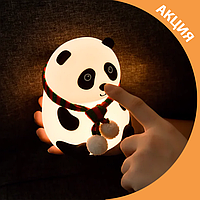 Ночник игрушка силиконовая Панда LOSSO, фото 1