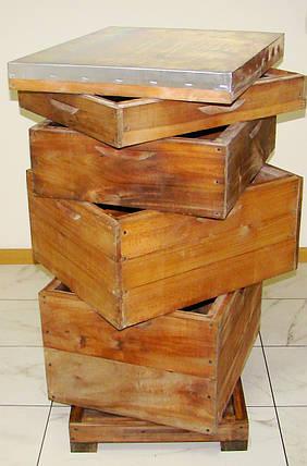 Корпус для улья на 10 рамок Дадан 300мм (липа) проваренный в раст. масле  с фальцами, фото 2