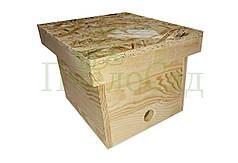 Нуклеус на 1 семью, на 3 рамки, деревянный