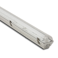 Светильник люминесцентный влагозащищенный Atom-746 ЛПП 1*18 IP65 под лампу Т8 с ЭПРА и пластиковыми пряжками
