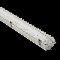 Влагозащищенный люминесцентный светильник Atom 771 1x58W с ЭПРА  и металлическими пряжками,  IP67
