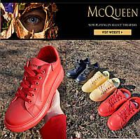 Женские кеды Alexander McQueen. Женские кроссовки демисезонные, сникерсы, слипоны