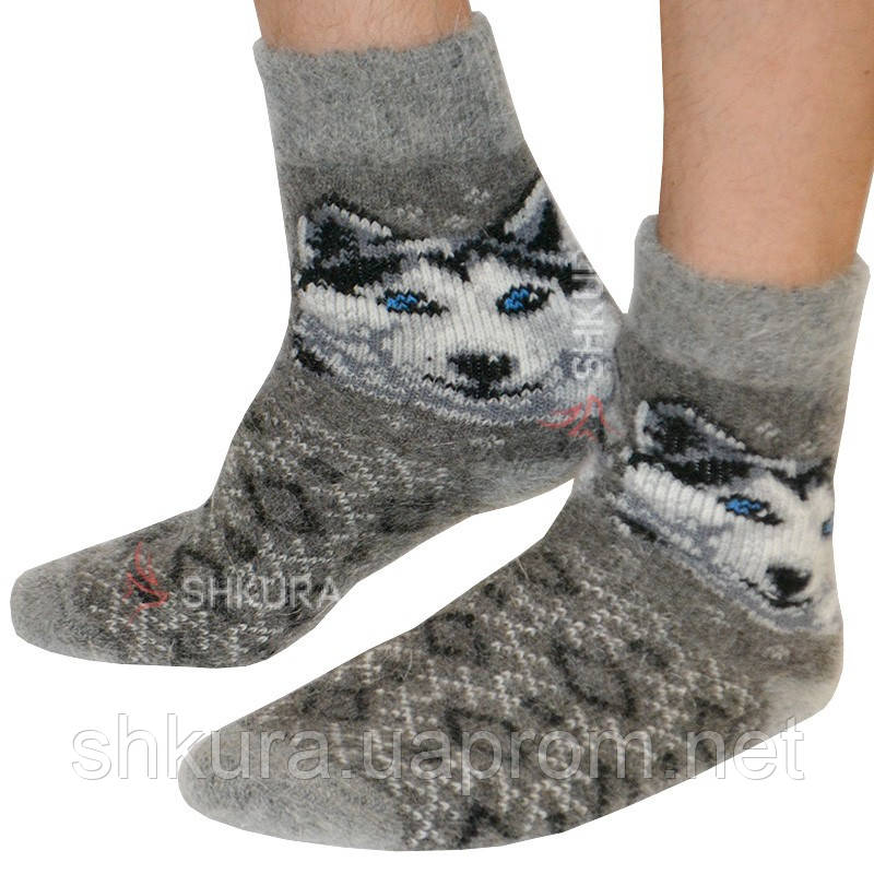 Шкарпетки з ангорської вовни, чоловічі 06