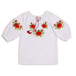 Вышиванка Розы для девочки Valeri tex, 311-1494-0014