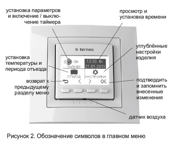 Режимы работы терморегулятора Terneo Pro
