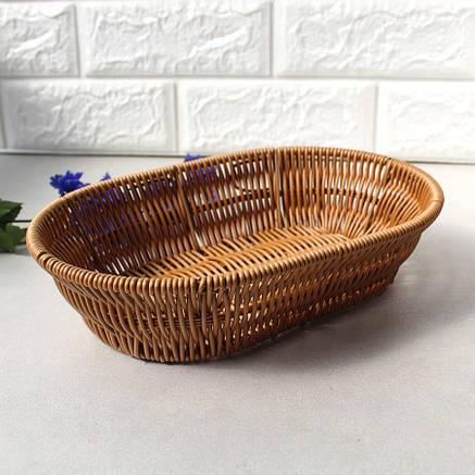 Овальний світлий кошик для хліба HLS 21*13.5*5см (7315), фото 2