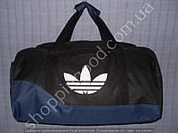 Дорожная сумка Adidas 013613 большая (53х27х27, см) черная с синим спортивная багажная текстиль